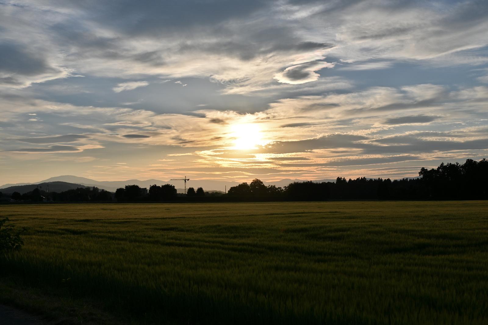 Sonnenuntergang über Klagenfurt