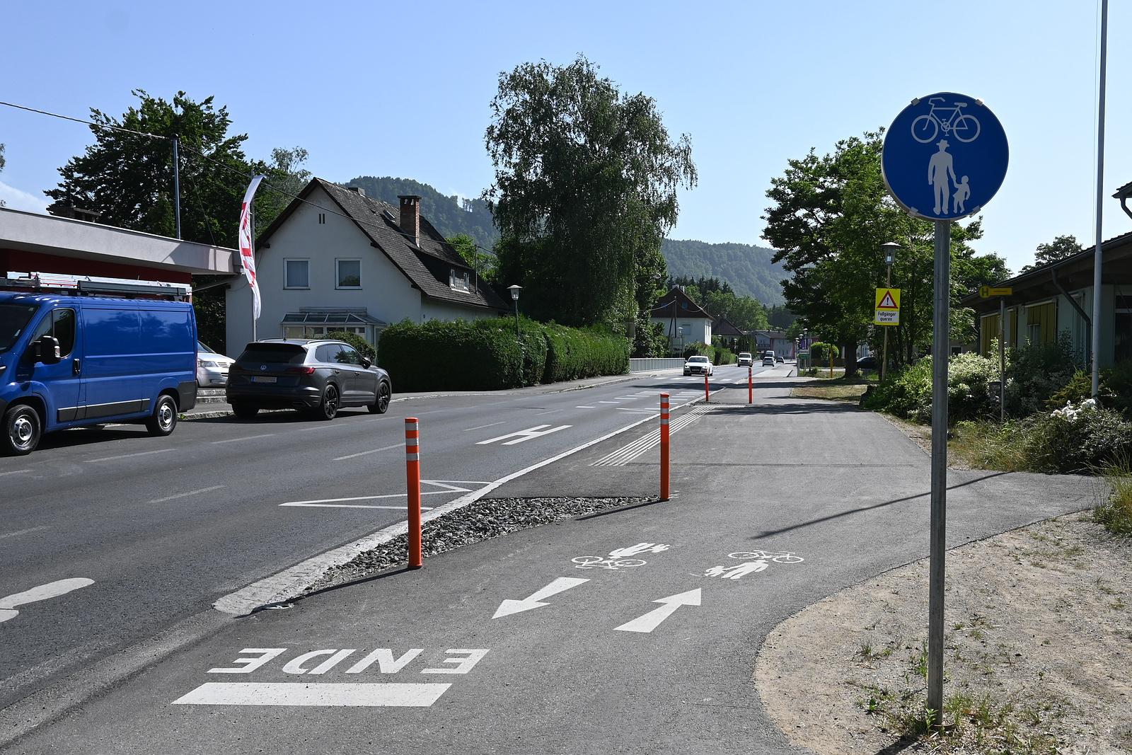 Radweg Miegerer Straße Ebenthal