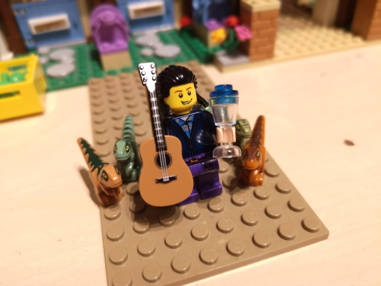 Mein Lego-Alterego mit seiner neuen Beschäftigung.